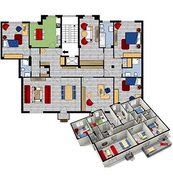 Prontacasa planimetrie e render per vendere casa pi for Planimetrie della casa estiva