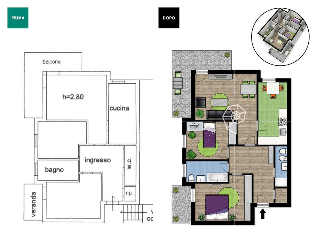 Planimetria casa 80 mq perfect elegant blog arredamento part con planimetria casa mq e fba - Valutazione immobile casa it ...
