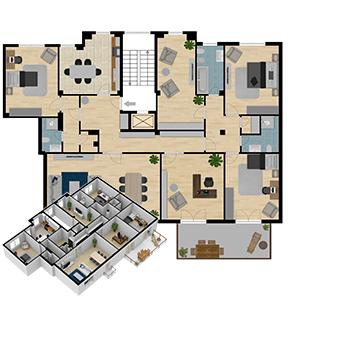 Prontacasa planimetrie e render per vendere casa pi for Planimetria appartamento